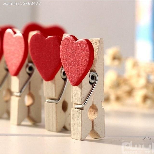 گیره چوبی طرح قلب |