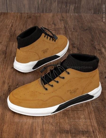 تصویر کفش ساقدار مردانه Prada مدل 16386