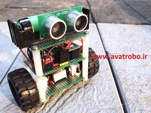 تصویر پروژه ربات دو چرخ خود تعادلی