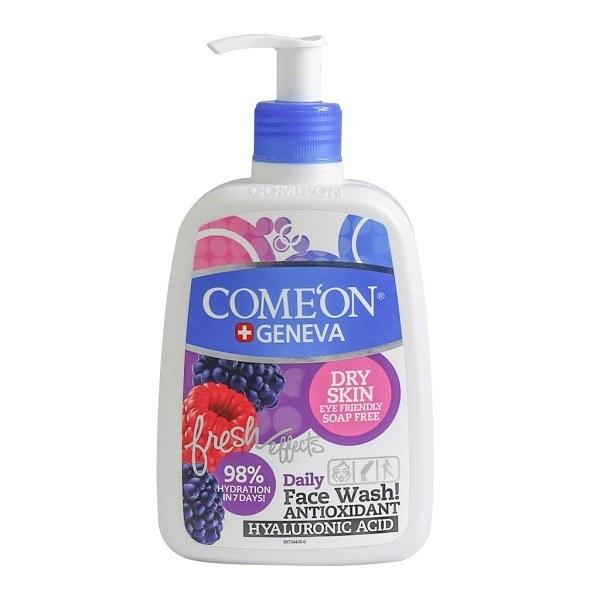 تصویر ژل شستشوی صورت کامان مخصوص پوست های خشک حجم 500 میل Comeon Face Wash For Dry Skin 500 ml
