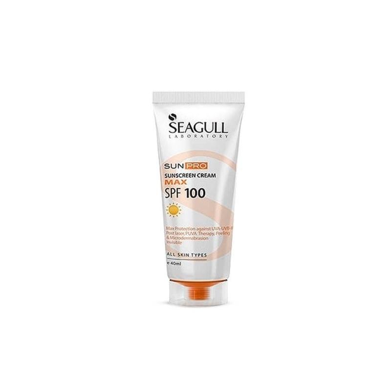 کرم ضد آفتاب بی رنگ SPF100 Max مناسب انواع پوست سی گل 40 میل