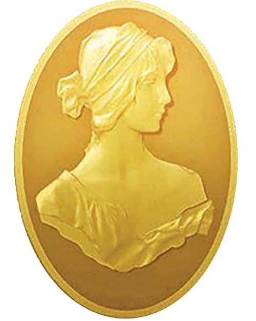 تصویر شمش طلا ۱ گرم نقش برجسته آناهیتا