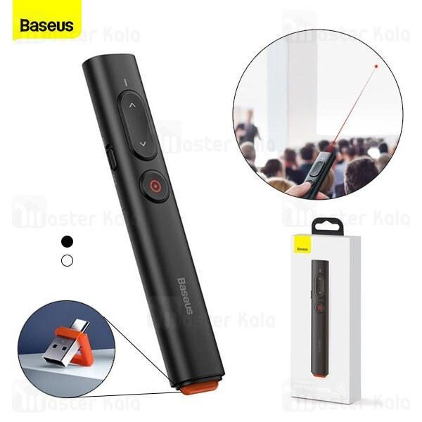 تصویر پوینتر و پرزنتر بیسوس Baseus Orange Dot PPT Wireless Presenter Youth ACFYB-A01