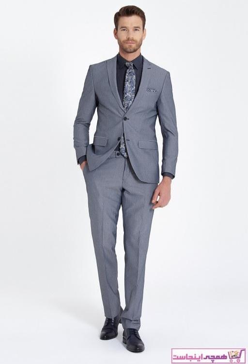 تصویر خرید نقدی کت شلوار مردانه فروشگاه اینترنتی برند Hatemoğlu رنگ لاجوردی کد ty67921942