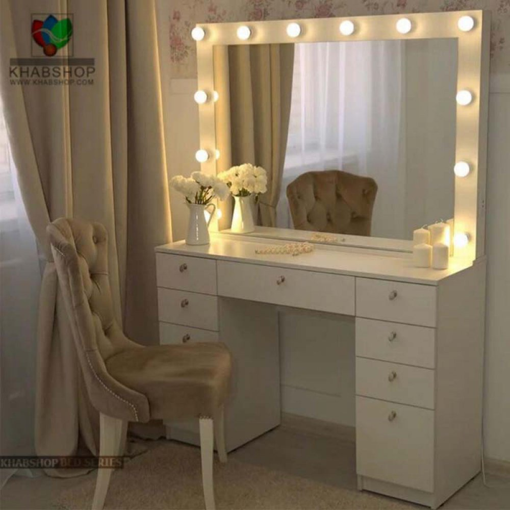 تصویر ست میز آرایش و آینه چراغ دار 3