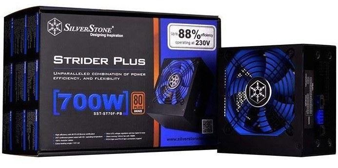 تصویر SilverStone Strider SST-ST70F-PB 700W Power Supply منبع تغذیه کامپیوتر سیلوراستون مدل Strider SST-ST۷۰F-PB