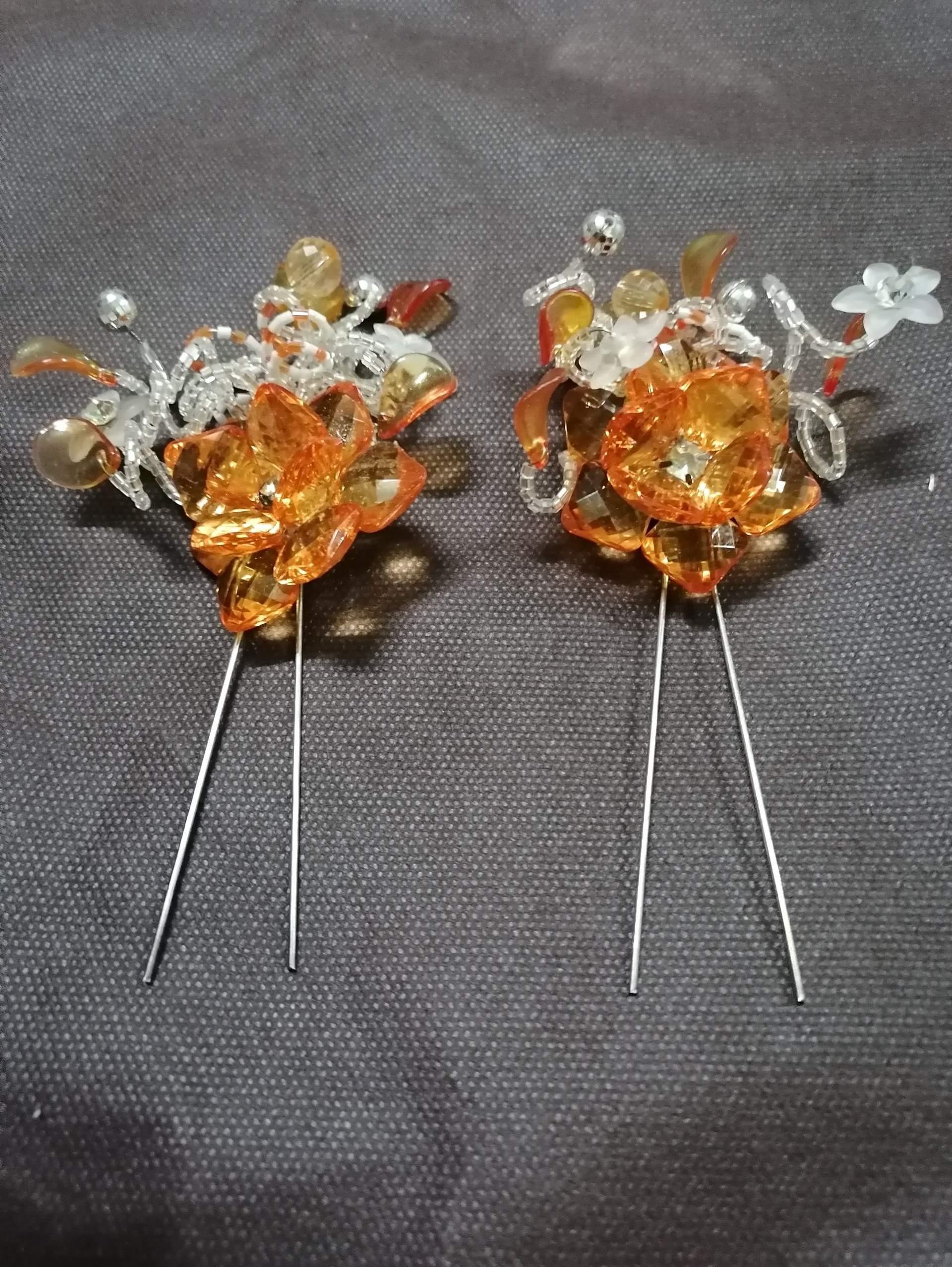 تصویر گل سر، تاج سر، تاج عروس (2عددی) ( شیک و لاکچری ) باکیفیت