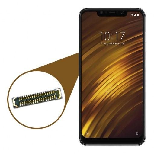 تصویر کانکتور LCD مناسب برای گوشی موبایل Xiaomi POCO F1 کانکتور السیدی مناسب برای گوشی پوکو اف 1