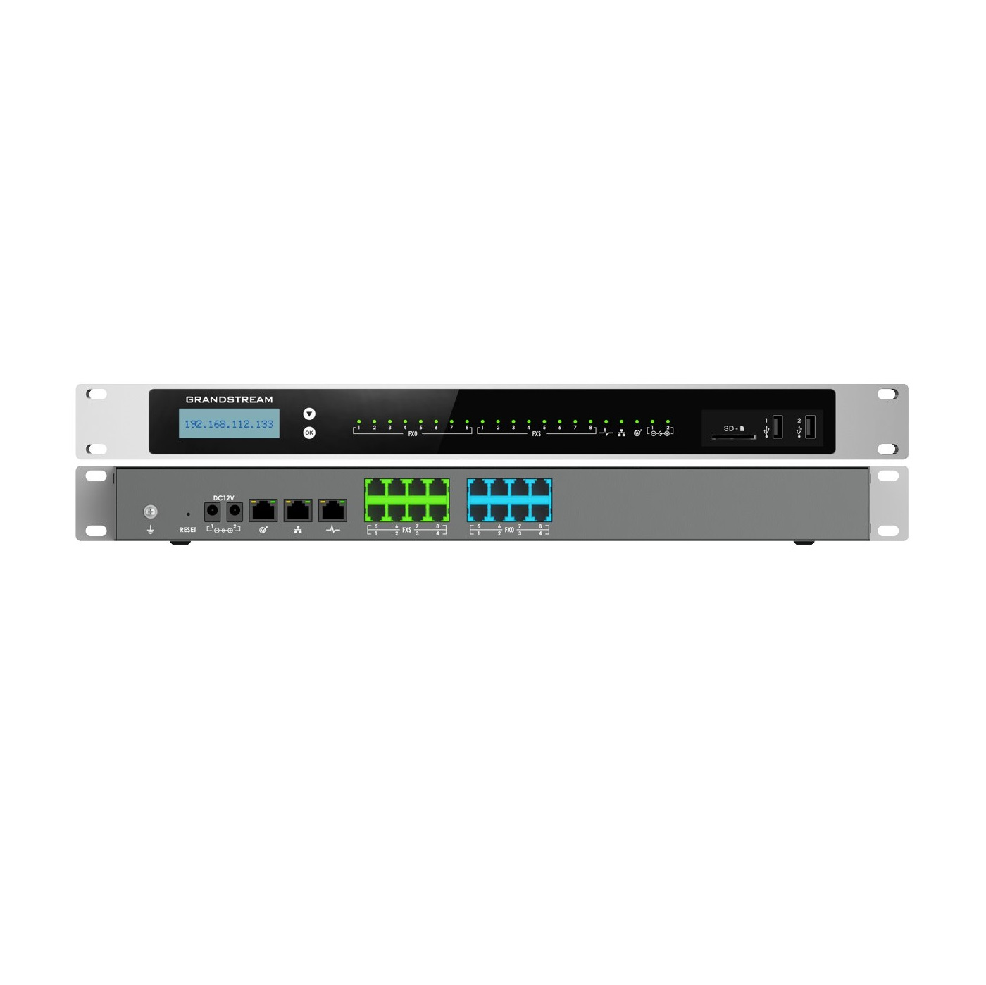 تصویر مرکز تلفن تحت شبکه و IP-PBX گرند استریم UCM6308