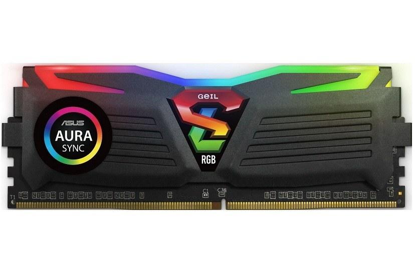 رم کامپیوتر ژل سری Super Luce RGB با حافظه ۸ گیگابایت و فرکانس ۳۲۰۰ مگاهرتز