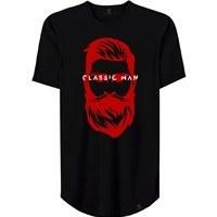 تصویر تیشرت لانگ مردانه 27 طرح CLASSIC MAN کد AL24 رنگ مشکی