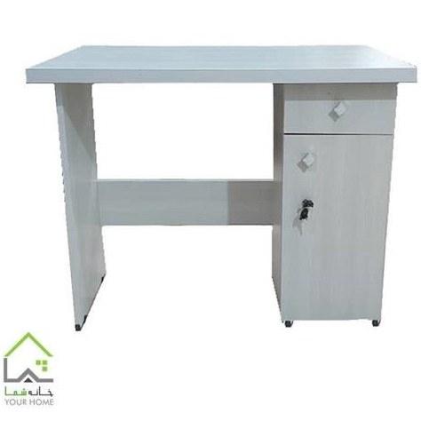 تصویر میز تحریر و کامپیوتر درسا سفید