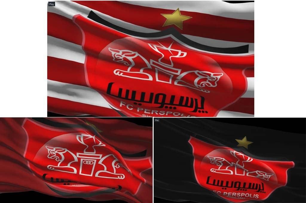 main images سه کلیپ پرچم لوگو باشگاه پرسپولیس