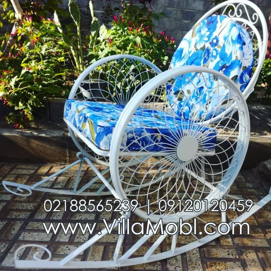 تصویر صندلی راک فلزی مدل گلبرگ
