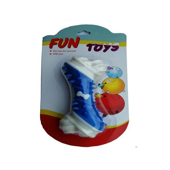 اسباب بازی دندانی سگ؛ طرح لاتکس استخوان خمیده |