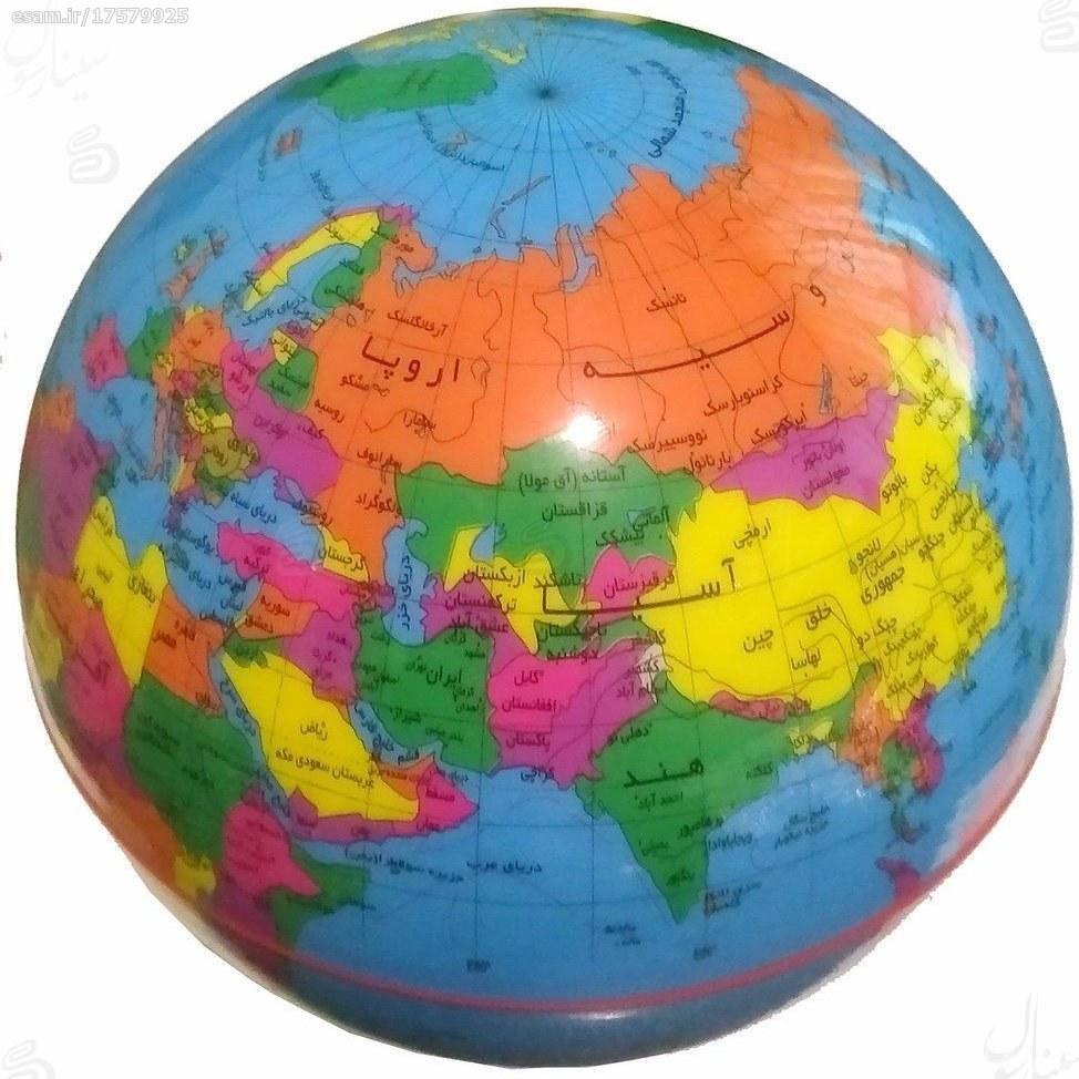 کره زمین گردون چراغدار مدل جغرافیایی فارسی