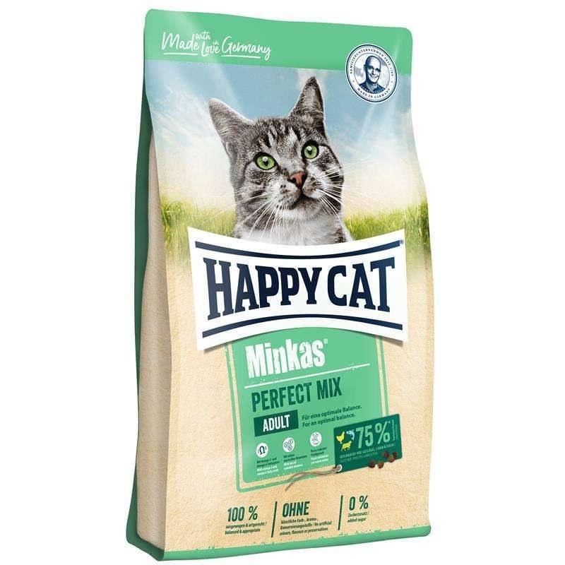 تصویر غذای گربه هپی کت مینکاس پرفکت میکس (۱۰ کیلوگرم) Happy Cat Minkas Perfect Mix 10kg