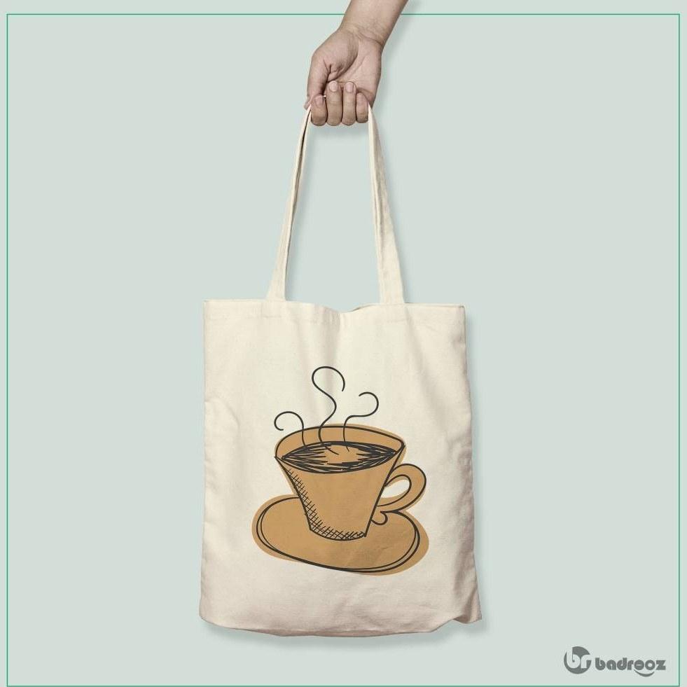 تصویر کیف خرید کتان Coffee 14