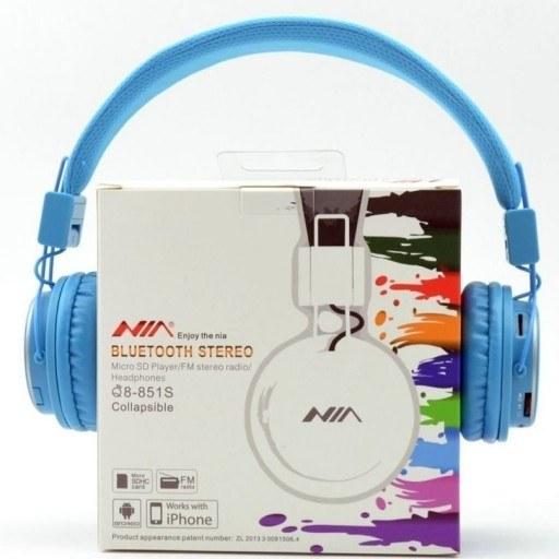 تصویر هدفون نیا بی سیم مدل Q8 NEW ا NIA Q8 NEW Wireless Headphones NIA Q8 NEW Wireless Headphones