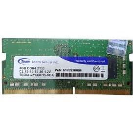 رم لپ تاپ DDR4 تک کاناله 2133 مگاهرتز CL15 تیم گروپ مدل Elite ظرفیت 4 گیگابایت کد 2133 |
