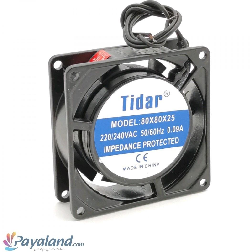 تصویر هواکش کامپیوتری پروانه  8 سانت چینی 220ولت Tidar تیپ 25×80×80 دو سیم(25mm)