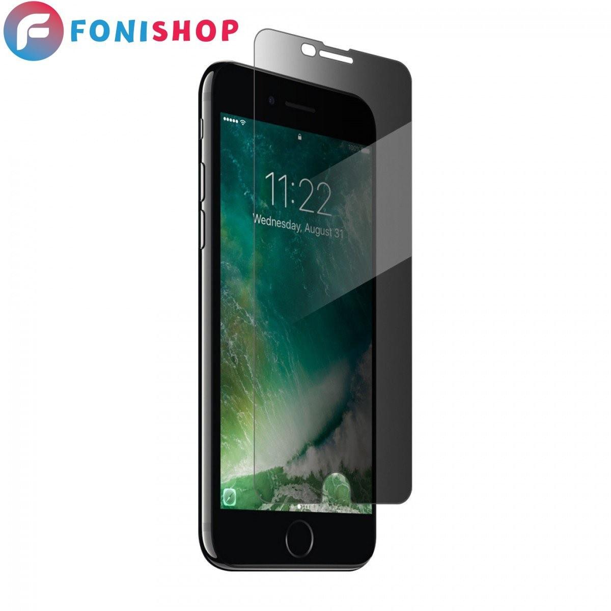 تصویر گلس محافظ صفحه نمایش پرایوسی آیفون 7 iPhone