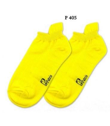 جوراب مچی نانو پاتریس ساده زرد کد 405  