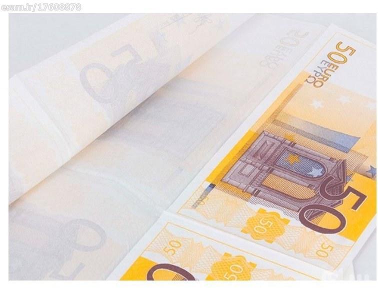 دستمال سفره طرح اسکناس 50 یورو