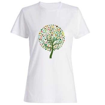 تیشرت زنانه طرح درخت کد 2587 |