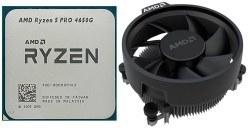 تصویر پردازنده 3.7 گیگاهرتز AMD مدل Ryzen 5 PRO 4650G همراه با فن