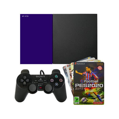 تصویر Game Console set with 5 games Sony PlayStation 2 XF 470 مجموعه کنسول بازی غیر اصل پلی استیشن 2 XF-470 به همراه 5 عدد بازی