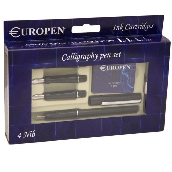 عکس ست خوش نویسی یوروپن - به همراه 4 عدد نوک Europen Calligraphy Pen Set - with 4 Nibs ست-خوش-نویسی-یوروپن-به-همراه-4-عدد-نوک