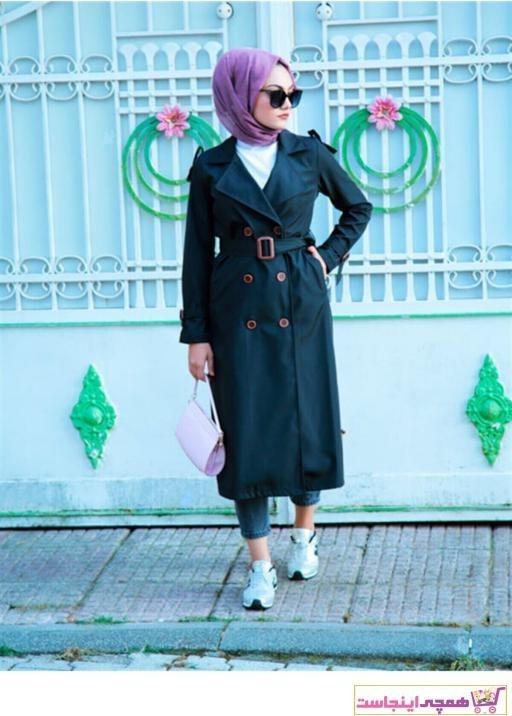 تصویر خرید اینترنتی مانتو پاییزی خاص زنانه برند ENDERON رنگ مشکی کد ty46835393