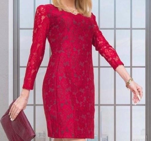 پیراهن مجلسی زنانه مدل گیپور قرمز |