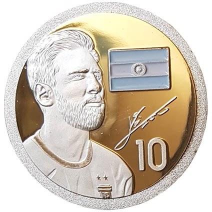 تصویر سکه مدل لیونل مسی Messi