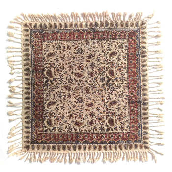 سفره قلمکار لوح هنر طرح درهم بادامی کد 1144 |