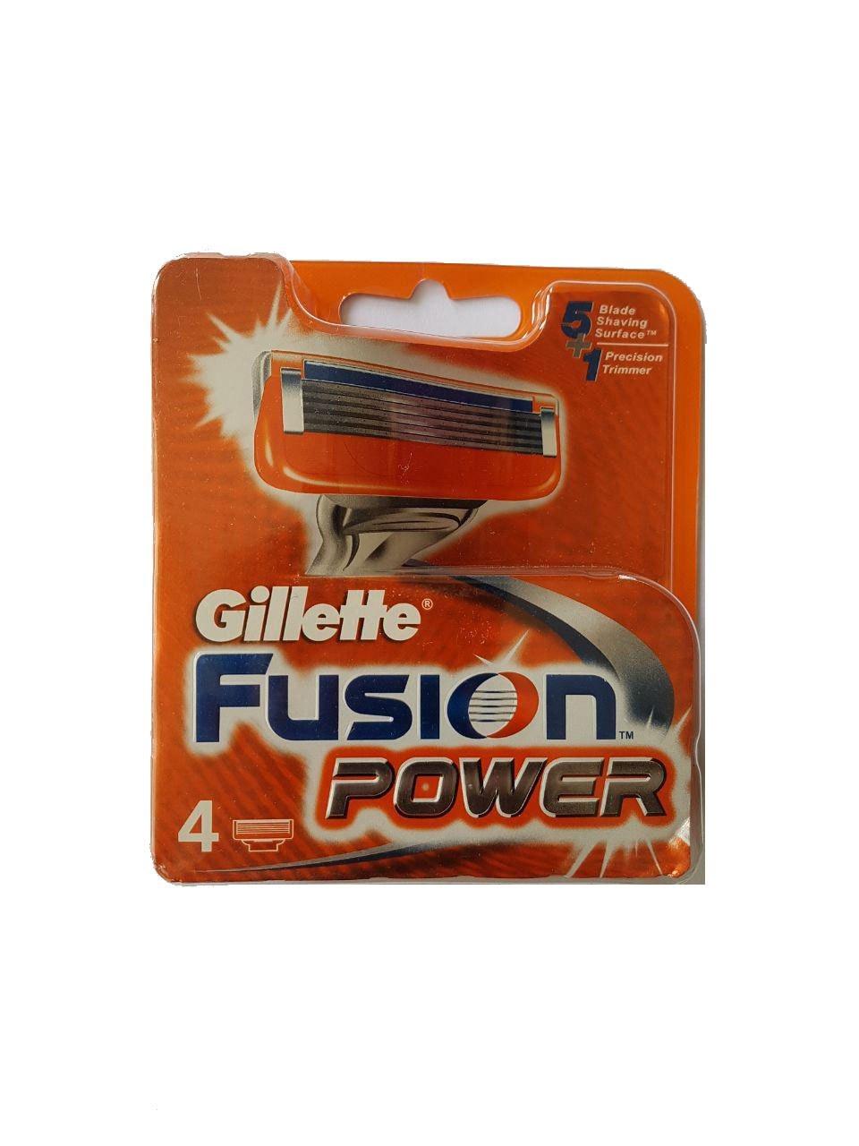 تصویر تیغ یدک 4 عددی ژیلت مدل Fusion Power (ارسال رایگان)