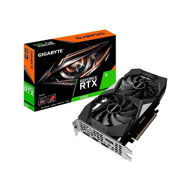 تصویر کارت گرافیک گیگابایت مدل GeForce RTX 2060 Gigabyte GeForce RTX 2060 WINDFORCE OC 6G rev. 2.0 Graphic Card