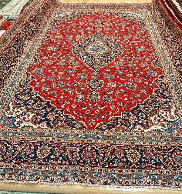 تصویر فرش دستبافت کاشان _ابعاد:420*300
