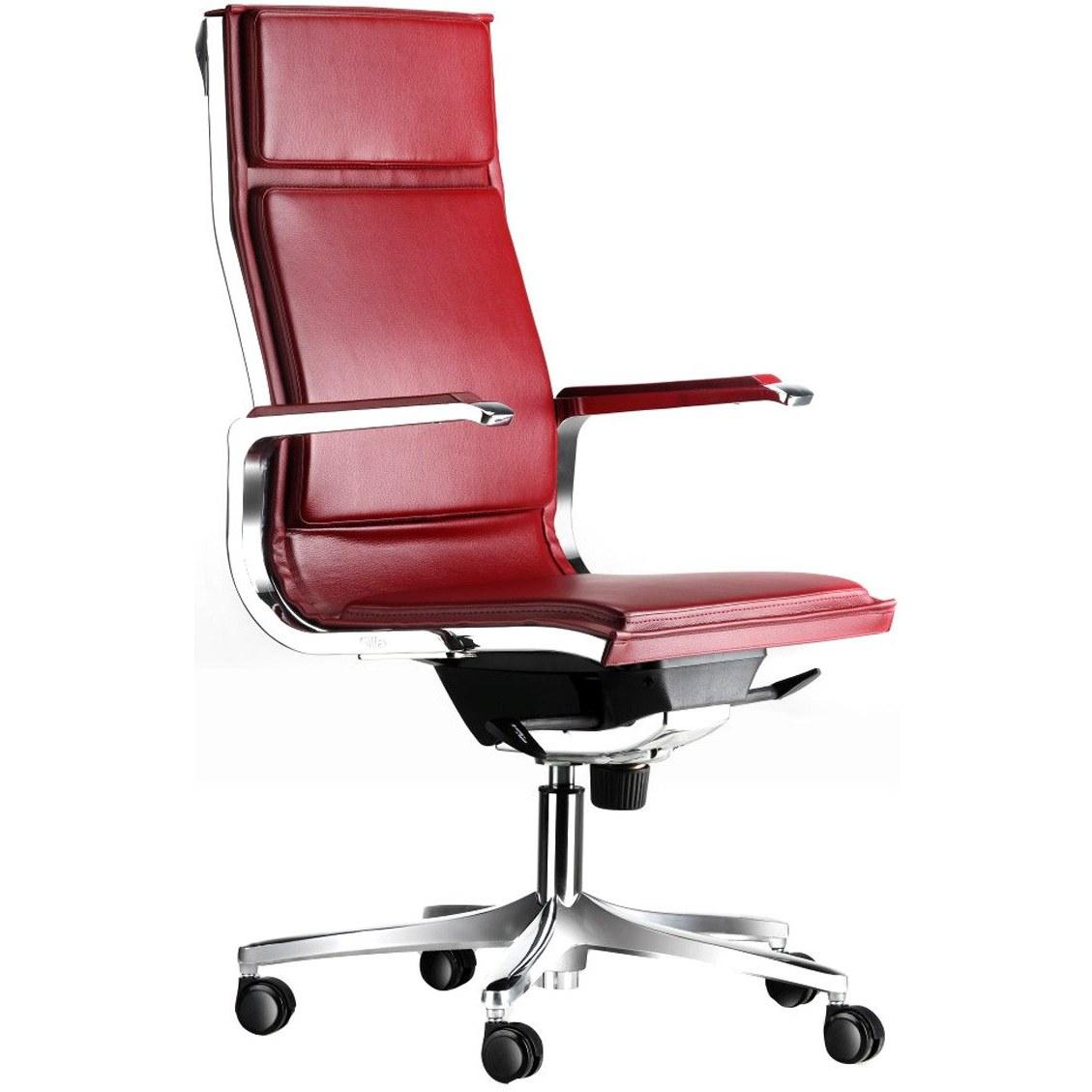 صندلی کارمندی و کارشناسی سیلا M17J با روکش چرم