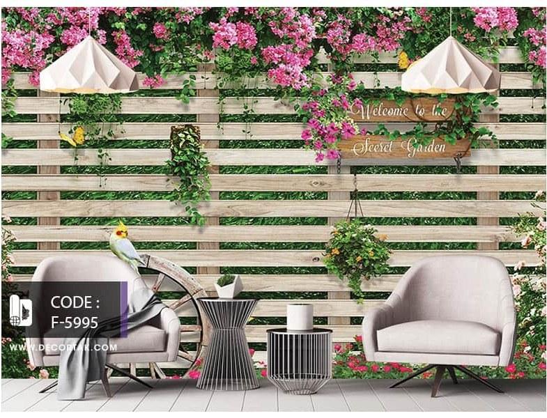 تصویر پوستر دیواری نرده های چوبی کد F-5995