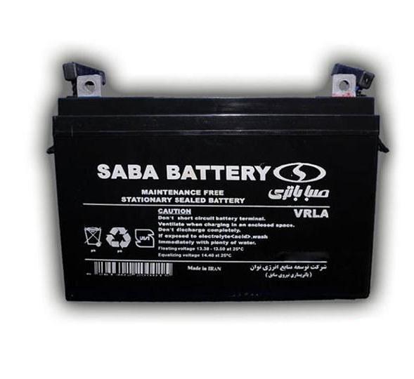 تصویر باتری یو پی اس 12 ولت 7 آمپرصبا باتری