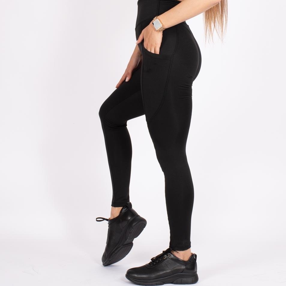 تصویر لگ اسلیم افکت جیبدار سیاه قد ۱۰۰ – Agi Slim Effect Leggings Siyah