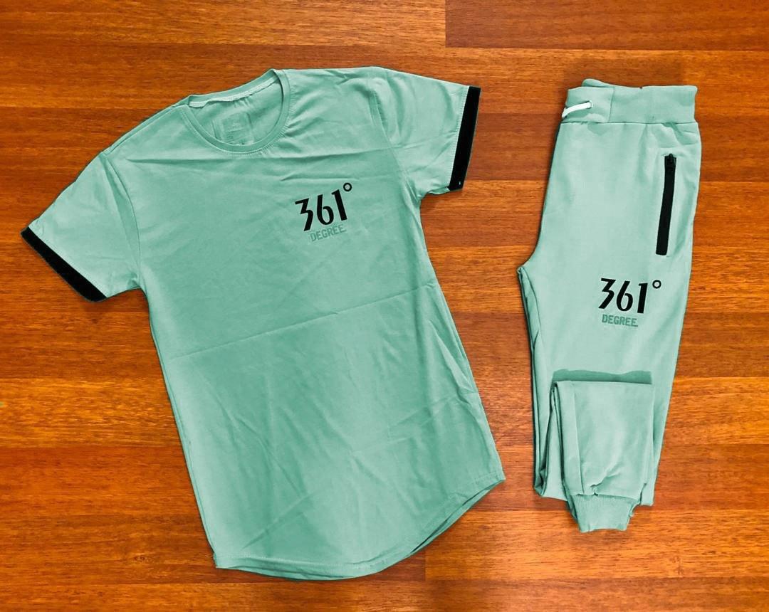 ست شلوار اسلش و تی شرت 361 درجه - رنگ فیلی