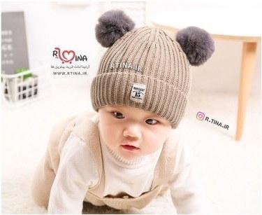 کلاه پوم پوم دار دخترانه و پسرانه نوزادی مدل 15 |