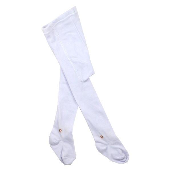 جوراب شلواری بچه گانه کنعان سفید ساده