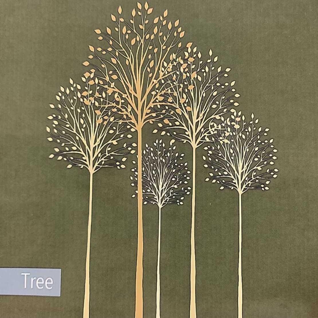 تصویر پرده حمام 180*190 رزین تاژ طرح Tree New
