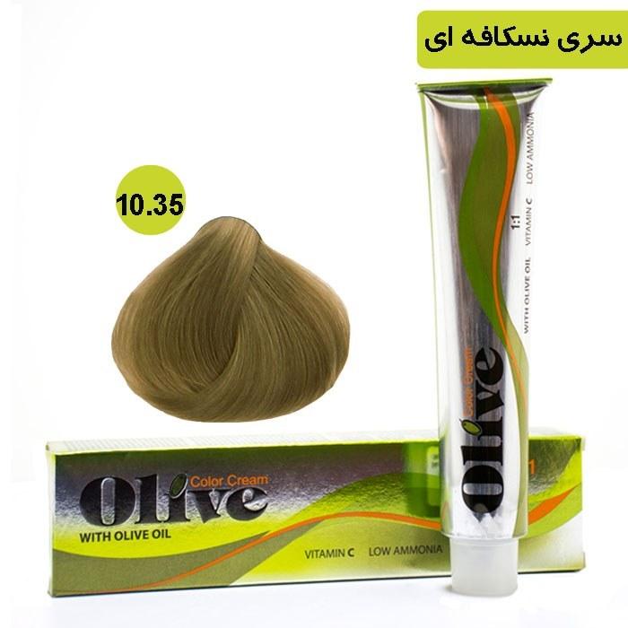 رنگ موی الیو سری نسکافه ای شماره Olive 10.35 |
