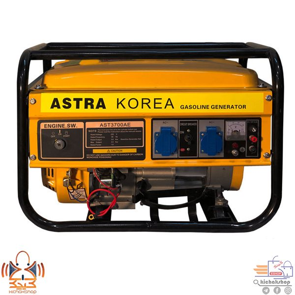 تصویر موتور برق بنزینی آسترا مدل AST3700AE generator portable AST3700AE