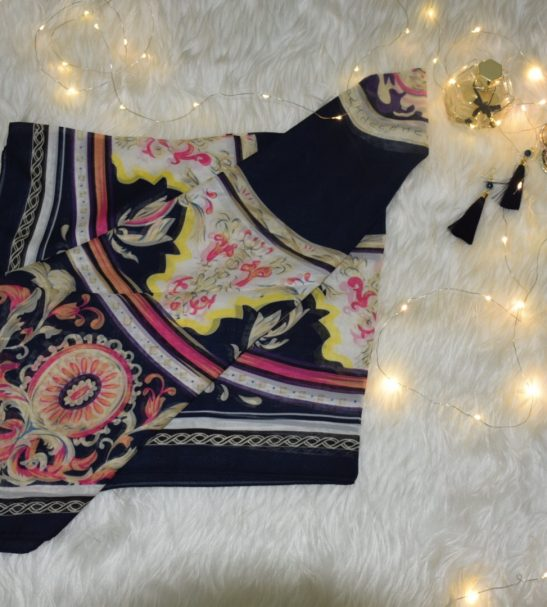روسری نخی عرض ١٤٠
